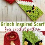 Grinch Inspired C2C Scarf Free Crochet Pattern