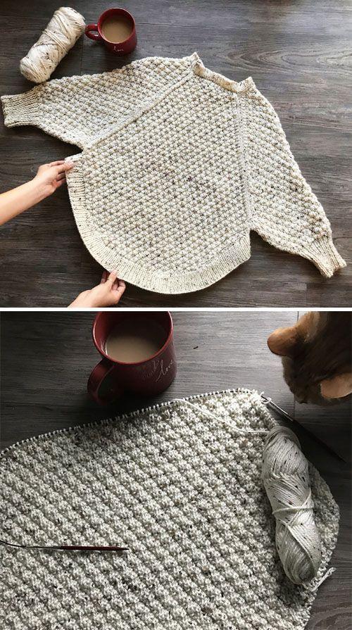 Große Kurven stricken Poncho – kostenlose Muster (schöne Fähigkeiten – Häkeln Stricken Quilte…