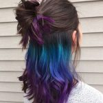 Grün-Blau-Lila-Ombre unter späterem Haarfärbemittel – Beauty Tips & Tricks,...