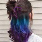 Grün Blau Lila Ombre unter späterem Haarfärbemittel #ombrehairupdos, #blue #Dye #Green #hair ...