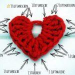 Häkelliebe – Anleitung zum Herzen häkeln