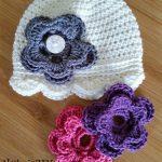 Häkelmuster Austauschbare Blume (für Hüte