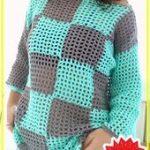 Häkeln Plaid Summer Sweater kostenlose Muster - einfach häkeln Pullover Muster für Anfänger ....