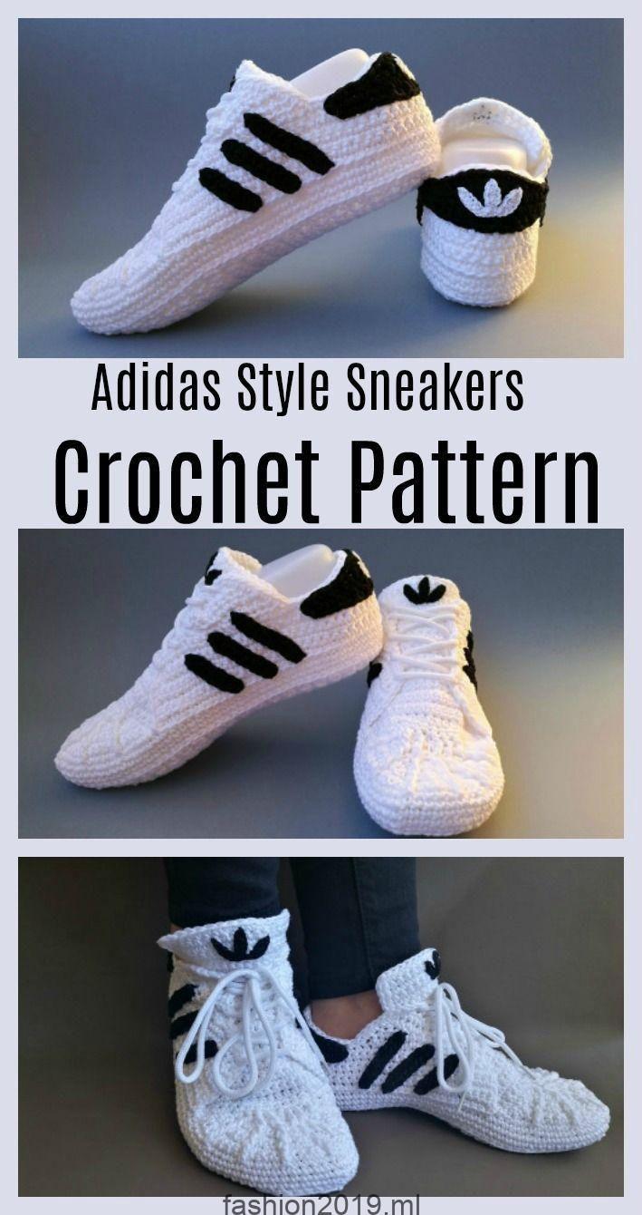 Häkeln Sie Adidas Sneakers – Kostenlose Anleitung für Anleitungen und Videos -…