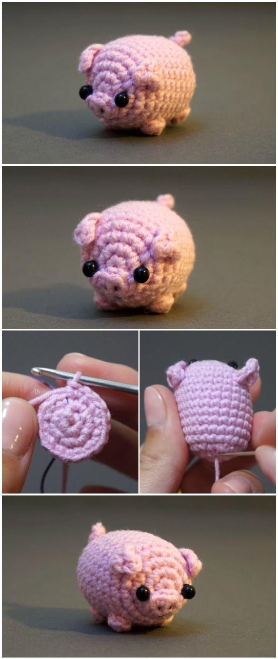 Häkeln Sie Baby Pig Amigurumi