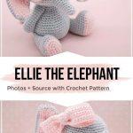 Häkeln Sie Ellie das Elefanten Amigurumi Muster