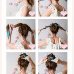 Hair scarf bun - #Bun #hair #Scarf