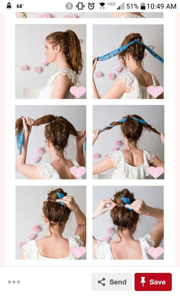 Hair scarf bun – #Bun #hair #Scarf