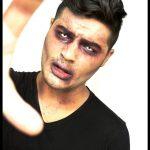 Halloween Make-up Ideen Männer Zombie weiße Augenlinsen Venen,  #Augenlinsen #Halloween #Idee...