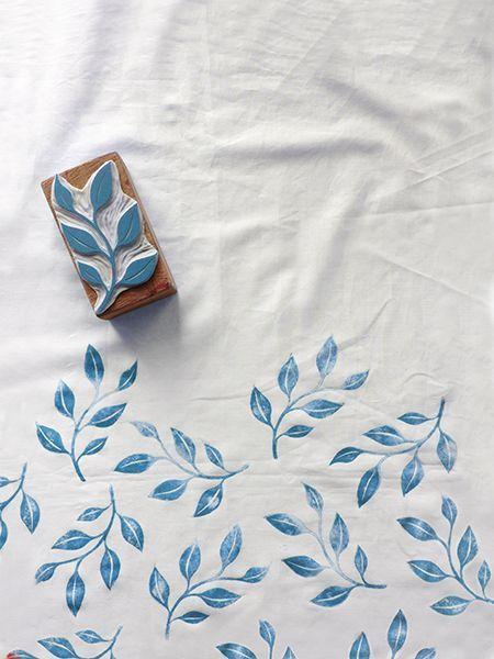 Hand print textiles with Karaka Handmade / Stamped textiles www.karakahandmad