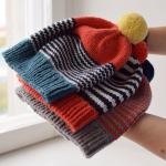 Handknit woolen unisex hats. #bonnets - loveit