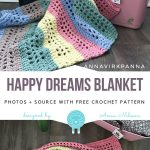 Happy Dreams Blanket Free Crochet Pattern