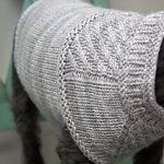 Harness-friendly dog sweater pattern by Jacqueline Cieslak