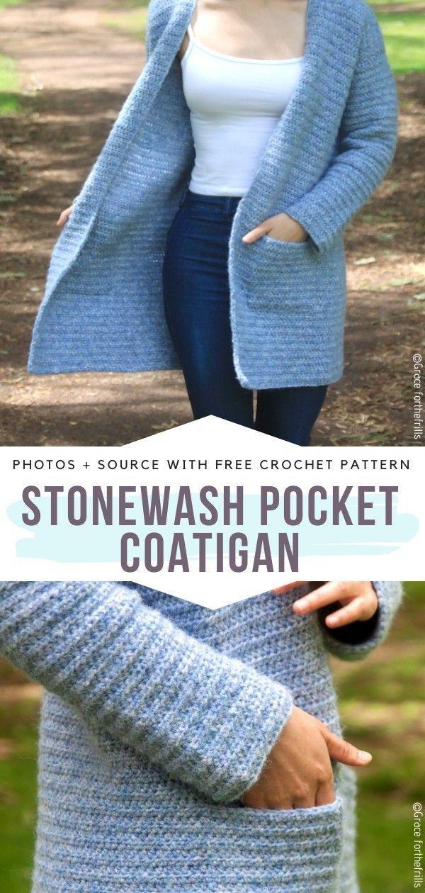Heavenly Blue Cardigans Free Crochet Patterns