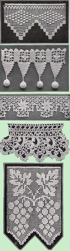 Heirloom Crochet – Vintage Patterns and Instructions – Crochet Edgings and Inser…