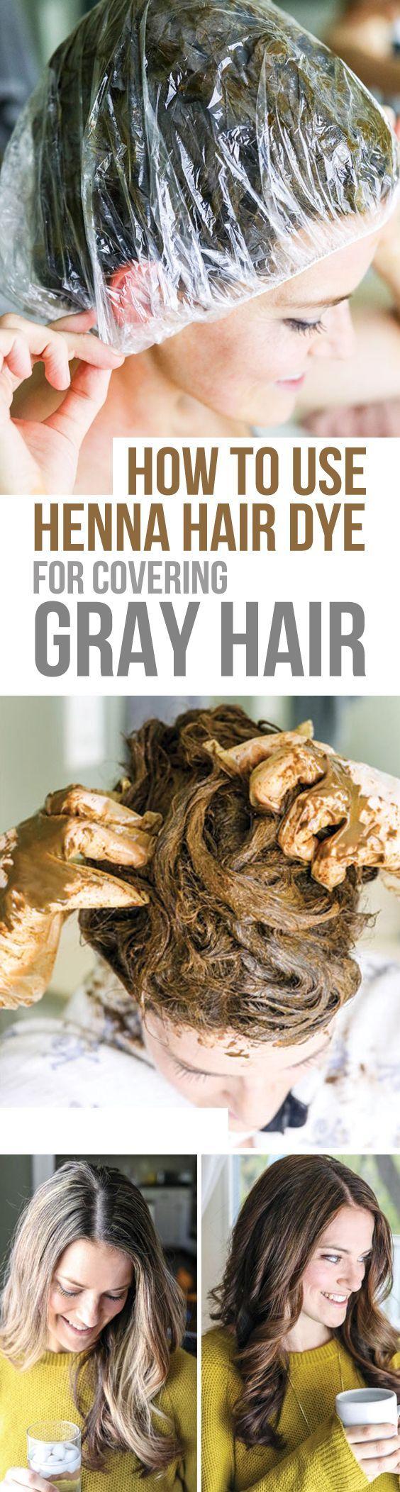 Henna Hair Dye for Covering Gray Hair