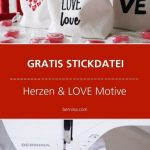 Herz Stickdatei Freebie