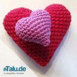 Herz häkeln - DIY-Anleitung für ein einfaches Häkelherz
