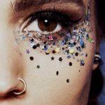Holografische zilver met sterren Festival Glitter
