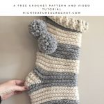 Home for Christmas Stocking - Free Crochet Pattern | Rich Textures Crochet