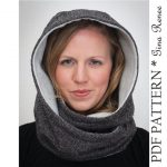 Hooded Scarf Pattern. Hood Scarf Sewing pattern. Infinity Scarf sewing pattern - PDF pattern