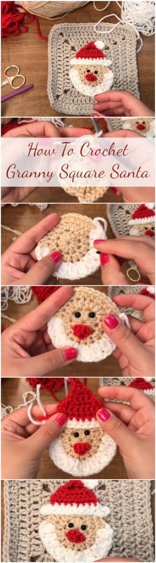 How To Crochet Granny Square Santa – Simple, Easy And Fast Tutorial