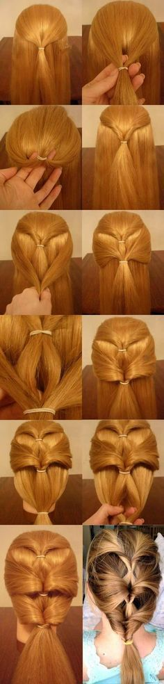 How To Make Inverted Ponytail Hairstyle DIY Instructions iCreativeIdeas …