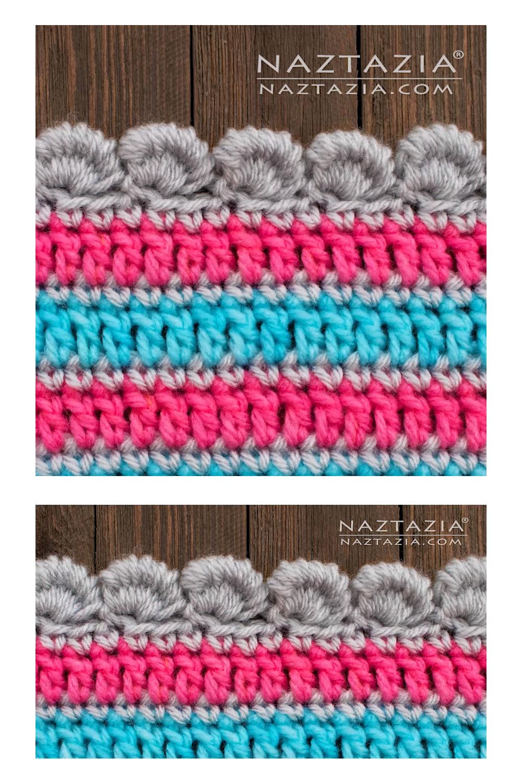How to Crochet Bullion Stitch Border Video
