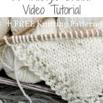 How to Knit a Triangle Shawl Video Tutorial + FREE Knitting Pattern. #bromefield...
