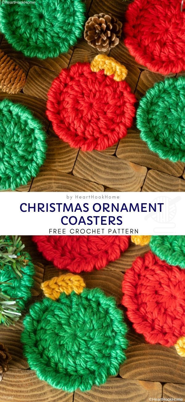 How to Make Easy Christmas Coasters – Free Pattern