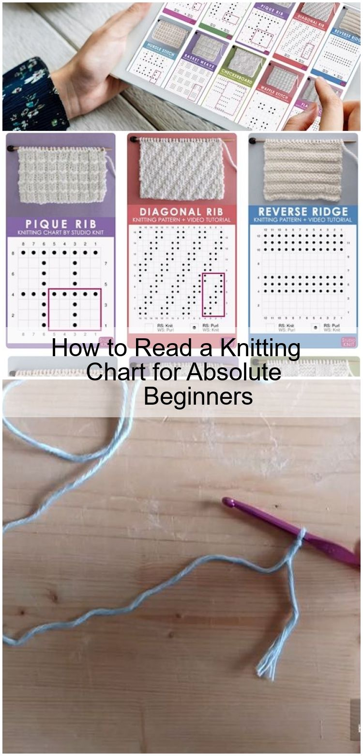 How to Read a Knitting Chart for Absolute Beginners,  #Absolute #Beginners #Chart #knitting #…