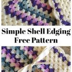 How to add a simple shell border to a granny square baby blanket - Crochet Tutorial