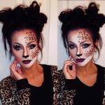 Hübsches Leopard-Make-up für niedliche Halloween-Make-up-Ideen
