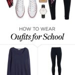 "I couldn't do the leggings but maybe black jeans- ""School today"" by ksarak o…"