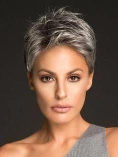 Image result for gray hairstyles of salt and pepper #FrisylesForWomen #FrisylesF…