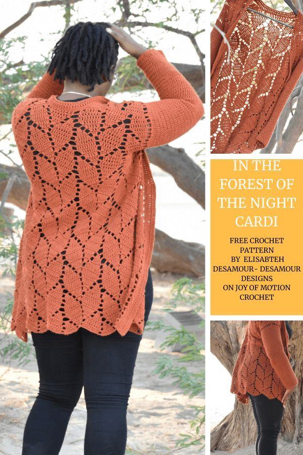 In the Forest of the Night Cardi – FREE Crochet Pattern