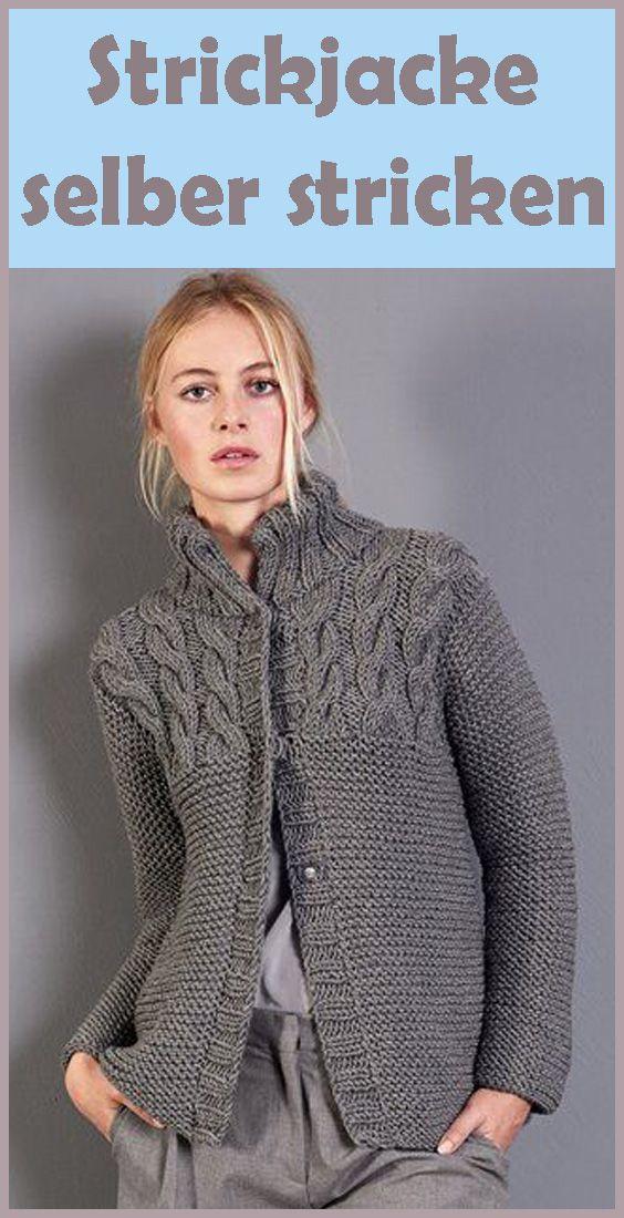 Jacke stricken – kostenlose & einfache Anleitung