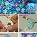 Joined Puff Flowers Crochet Pattern Tutorial