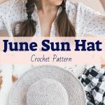 June Sun Hat Crochet pattern by Ashleigh Kiser | Sewrella