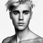 Justin Bieber Body Tattoos Black and White Poster