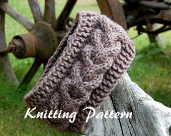 KNITTING PATTERN – Cable Knit Headband Pattern