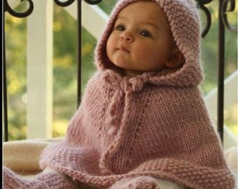 KNITTING PATTERN bunny poncho with pocket Phoebe