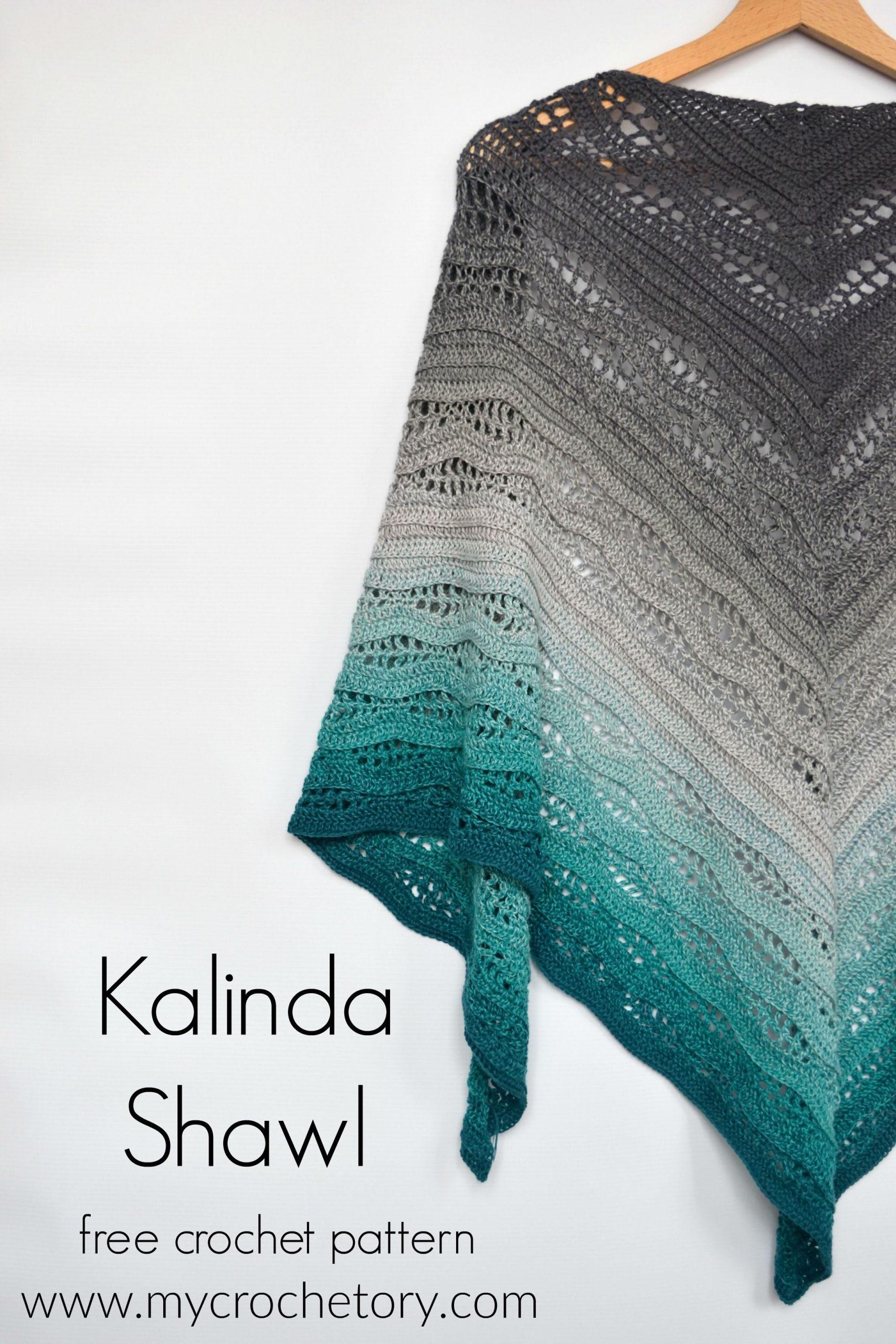 Kalinda Shawl – free crochet pattern by
