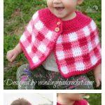 Kids Plaid Cape Free Crochet Pattern