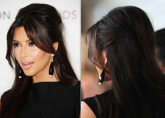 Kim Kardashian Hairstyles 2012
