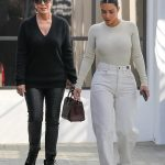 Kim Kardashian steps out with Kris Jenner is polar opposite outfits