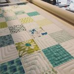 """Kimie Tanner and Missy Winona on Instagram: """"My current client quilt is motivating me to use up an old charm pack I've been hoarding. Sometimes simple is all that's needed to make a…"""""""