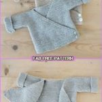 Kimono-Strick-Baby-Strickjacke Easy Templates - Baby-Strickjacke Free Knitting Paw ...