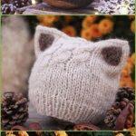 Kitty-Katzen-Hut-Strickmuster-Größen-Baby zum Erwachsenen geben frei