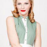 Kleider - 50er Jahre Kleid Martha grün gepunktet L/40 - ein Designerstück von ...